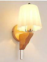 Недорогие -Защите для глаз Настенные светильники Назначение Гостиная Дерево/бамбук настенный светильник 220 Вольт 7W