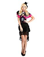abordables -Burlesques Payaso Circo Una Sola Pieza Vestidos Disfrace de Cosplay Ropa de Fiesta Mujer Halloween Carnaval Festival / Celebración