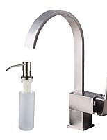 Недорогие -Античный По центру Широко распространенный Керамический клапан Одной ручкой одно отверстие Матовый, Ванная раковина кран