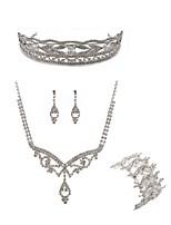 cheap -Women's Tiaras Bridal Jewelry Sets Rhinestone Fashion European Wedding Party Imitation Diamond Alloy Body Jewelry 1 Necklace 1 Bracelet