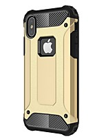 cheap -Case For Apple iPhone X iPhone 8 Plus Shockproof Back Cover Armor Hard Metal for iPhone X iPhone 8 Plus iPhone 8 iPhone 7 Plus iPhone 7
