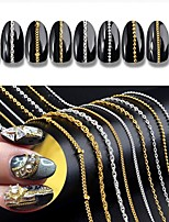 cheap -Charms Decorating Tool DIY Tools Metallic Nail Art DIY Tool Accessory Silver Gold Other Tools Chain Removable Chain Strap Nail Art Tool