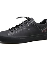 cheap -Men's Shoes Leather Spring Summer Comfort Sneakers for Casual Black