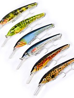 cheap -6 pcs Pastry Tube Fishing Lures Minnow Hard Bait Plastic Outdoor Sea Fishing Trolling & Boat Fishing Lure Fishing
