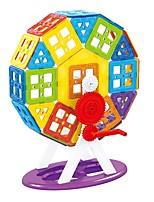 preiswerte -Magnetische Bauklötze Spielzeuge Klassisch Transformierbar Weicher Kunststoff 102 Stücke