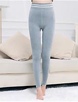 preiswerte -Damen Retro Undurchsichtig Baumwolle Solide Einfarbig Legging,Grau