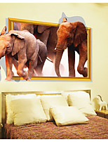 cheap -Animals 3D Wall Stickers 3D Wall Stickers Decorative Wall Stickers, Paper Home Decoration Wall Decal Wall Floor