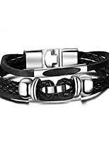 cheap -Men's Chain Bracelet , Fashion Leather Alloy Geometric Jewelry Gift Daily Costume Jewelry