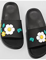 Недорогие -Девочки обувь КожаПВХ Весна Осень Удобная обувь Тапочки и Шлепанцы для Повседневные Белый Черный Красный