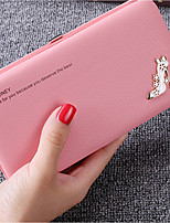 cheap -Bags PU Wallet Crystal Detailing for Casual All Seasons Black Blushing Pink