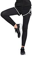 cheap -Women's Running Tights Quick Dry Tights Running/Jogging Cotton Slim Black XXL XL L M