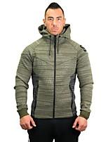 cheap -Men's Running Jacket Long Sleeves Breathability Sweatshirt for Running/Jogging Exercise & Fitness Polyester Slim Grey Green Red Black