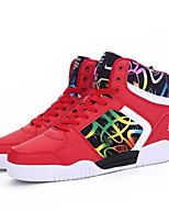 cheap -Shoes Synthetic Microfiber PU Spring Fall Comfort Sneakers for Casual White Black Red