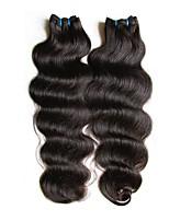 Недорогие -дешевые 8a бразильские девственные пучки человеческих волос ткут волна тела 2pieces 200g lot в продаже натуральный черный цвет полный