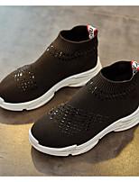 Недорогие -Мальчики Девочки обувь Ткань Весна Осень Удобная обувь Ботильоны Ботинки Ботинки для Повседневные Черный Серебряный
