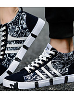 cheap -Men's Shoes Canvas Spring Fall Comfort Sneakers for Casual Black Blue