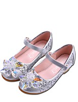 cheap -Girls' Shoes Paillette Spring Fall Tiny Heels for Teens Heels Rhinestone Sparkling Glitter Magic Tape for Wedding Party & Evening Silver
