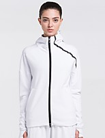 cheap -Women's Running Jacket Long Sleeves Quick Dry Tracksuit for Running/Jogging Cotton Loose Black White XXL XL L M