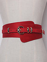 cheap -Women's Leather Waist Belt,Brown Black Red Beige Light Brown Casual