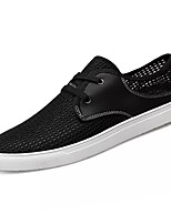 cheap -Men's Shoes PU Spring Fall Comfort Sneakers for Outdoor Black Blue