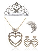 cheap -Women's Tiaras Bridal Jewelry Sets Rhinestone Imitation Diamond Alloy Geometric Heart Fashion European Wedding Party Body Jewelry 1