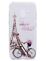 cheap -Case For Samsung Galaxy A8 Plus 2018 A8 2018 Transparent Pattern Back Cover Eiffel Tower Soft TPU for A3(2017) A5(2017) A7(2017) Galaxy