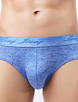 abordables -Homme Elastique Solide Slips Moyen-Polyester 1pc Bleu Vert Noir Rouge Violet