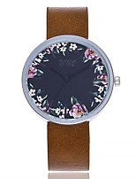 baratos -Mulheres Relógio de Moda Relógio de Pulso Chinês Quartzo Mostrador Grande Couro Legitimo Banda Casual Minimalista Preta Vermelho Marrom