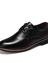 cheap -Men's Shoes Rubber Spring Fall Comfort Oxfords for Outdoor Black Brown