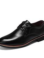 Недорогие -Муж. обувь Резина Весна Осень Удобная обувь Туфли на шнуровке для на открытом воздухе Черный Коричневый