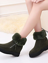 cheap -Women's Shoes PU Winter Fall Comfort Boots Flat Closed Toe Mid-Calf Boots for Casual Outdoor Green Coffee Black