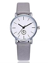 cheap -Women's Fashion Watch Wrist watch Chinese Quartz Large Dial Leather Band Casual Minimalist Black Brown Grey