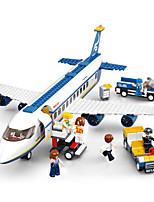 cheap -Sluban Building Blocks Plane Toys Airport Vehicles DIY Eco Friendly ABS Kids 463 Pieces