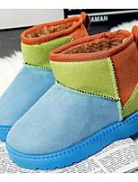 Недорогие -Девочки Мальчики обувь Нубук Зима Осень Зимние сапоги Удобная обувь Ботинки Ботинки для Повседневные Красный Синий