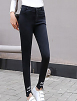 cheap -Women's Stylish Polyester Opaque Print Legging,Print Black
