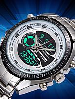 Недорогие -Муж. Уникальный творческий часы Наручные часы Модные часы Японский Кварцевый Календарь Крупный циферблат Хронометр ЖК экран Светящийся