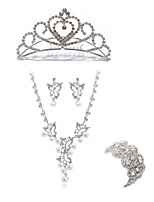 cheap -Women's Tiaras Bridal Jewelry Sets Rhinestone Imitation Diamond Alloy Geometric Butterfly Fashion European Wedding Party Body Jewelry 1