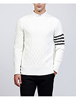 cheap -Men's Daily Casual Print Round Neck Pullover, Long Sleeves Winter Fall Nylon