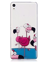 abordables -Coque Pour Huawei Xperia M2 Xperia XA Motif Coque Arrière Flamant Flexible TPU pour Sony Xperia XA Sony Xperia M2
