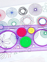 cheap -1Pc New Spirograph Geometric Ruler Stencil Spiral Art Classic Toy Stationery