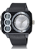 abordables -Hombre Mujer Reloj Casual Reloj Deportivo Reloj de Moda Japonés Digital Calendario Resistente al Agua Dos Husos Horarios Cronómetro