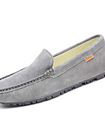 cheap -Men's Shoes PU Spring Fall Comfort Loafers & Slip-Ons for Outdoor Khaki Blue Brown Gray Black
