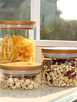Недорогие -Стекло Высокое качество Хранение продуктов питания 3шт Кухонная организация