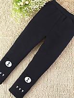 economico -Pantaloni Da ragazza Cotone Con stampe Inverno Cartone animato Nero Blu marino Grigio