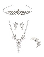cheap -Women's Headwear Bridal Jewelry Sets Rhinestone Fashion European Wedding Party Imitation Diamond Alloy Geometric Butterfly Body Jewelry 1