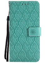 cheap -Case For LG K8 LG LG K10 LG K7 K10 (2017) G6 Card Holder Wallet with Stand Embossed Full Body Cases Solid Color Flower Hard PU Leather for