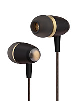 cheap -PHB EW002 In Ear Wired Headphones Dynamic Plastic Pro Audio Earphone with Volume Control with Microphone Headset