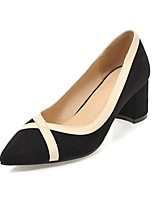 cheap -Women's Shoes Fleece Spring Fall Basic Pump Heels Chunky Heel Pointed Toe for Office & Career Dress Pink Beige Black