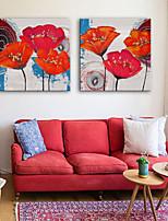 Недорогие -Холст для печати Деревня Modern,2 панели Холст С картинкой Декор стены Украшение дома