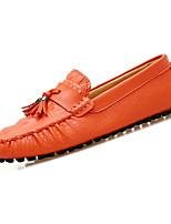 Недорогие -Муж. обувь Наппа Leather Кожа Весна Осень Мокасины Удобная обувь Мокасины и Свитер для Повседневные Белый Черный Коричневый